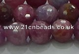 CRZ1126 15.5 inches 10mm faceted round natural ruby gemstone beads