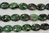 CRZ479 15.5 inches 8*10mm oval ruby zoisite gemstone beads