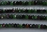 CRZ750 15.5 inches 2*2.5mm faceted rondelle ruby zoisite beads