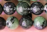 CRZ772 15.5 inches 8mm round ruby zoisite beads wholesale