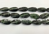 CRZ797 15.5 inches 15*30mm twisted oval ruby zoisite gemstone beads
