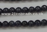 CRZ821 15.5 inches 4mm round natural sapphire gemstone beads
