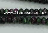 CRZ920 15.5 inches 5*8mm rondelle Chinese ruby zoisite beads