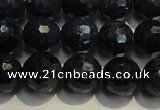 CRZ963 15.5 inches 7mm � 7.8mm faceted round A grade sapphire beads