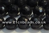 CRZ965 15.5 inches 7mm � 7.8mm faceted round A+ grade sapphire beads