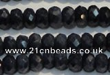 CRZ976 15.5 inches 4*6mm faceted rondelle A grade sapphire beads