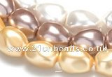 CSB04 16 inches 16*20mm nugget shell pearl beads Wholesale