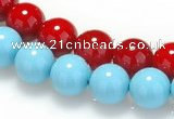 CSB08 16 inches 12mm round shell pearl beads Wholesale