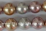 CSB103 15.5 inches 16mm round mixed color shell pearl beads