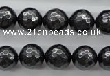 CSB1186 15.5 inches 12mm faceted round shell pearl beads