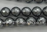 CSB1202 15.5 inches 12mm faceted round shell pearl beads