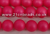 CSB1301 15.5 inches 6mm matte round shell pearl beads wholesale