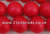 CSB1308 15.5 inches 10mm matte round shell pearl beads wholesale