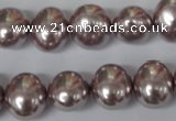 CSB140 15.5 inches 12*15mm – 13*16mm oval shell pearl beads