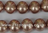 CSB141 15.5 inches 12*15mm – 13*16mm oval shell pearl beads