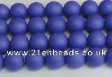 CSB1410 15.5 inches 4mm matte round shell pearl beads wholesale