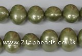CSB144 15.5 inches 12*15mm – 13*16mm oval shell pearl beads