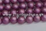 CSB1631 15.5 inches 6mm round matte shell pearl beads wholesale