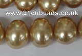 CSB165 15.5 inches 15*18mm – 16*19mm oval shell pearl beads