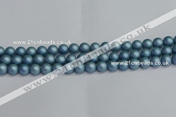 CSB1713 15.5 inches 10mm round matte shell pearl beads wholesale