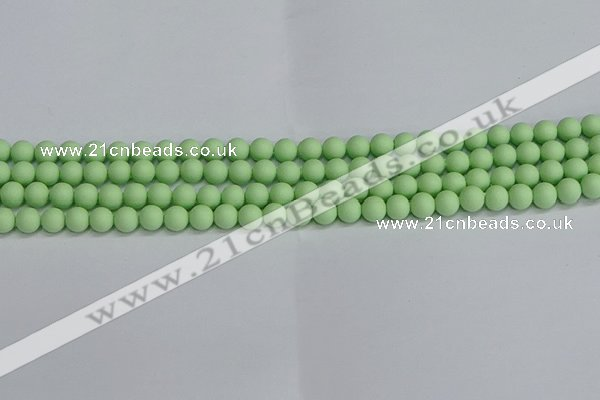 CSB1740 15.5 inches 4mm round matte shell pearl beads wholesale