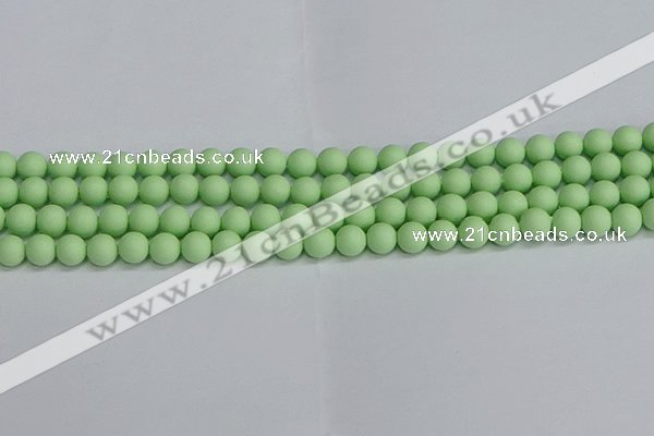CSB1741 15.5 inches 6mm round matte shell pearl beads wholesale