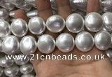 CSB2130 15.5 inches 20mm flat round shell pearl beads wholesale