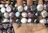 CSB2157 15.5 inches 14*14mm - 15*15mm baroque mixed shell pearl beads