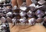 CSB2163 15.5 inches 16*16mm - 18*20mm baroque shell pearl beads