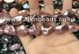 CSB2174 15.5 inches 16*16mm - 20*22mm baroque shell pearl beads