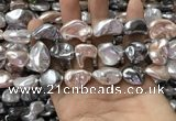 CSB2175 15.5 inches 16*16mm - 20*22mm baroque mixed shell pearl beads