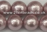 CSB2244 15.5 inches 12mm round wrinkled shell pearl beads wholesale