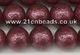CSB2262 15.5 inches 8mm round wrinkled shell pearl beads wholesale