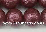 CSB2265 15.5 inches 14mm round wrinkled shell pearl beads wholesale