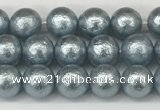 CSB2280 15.5 inches 4mm round wrinkled shell pearl beads wholesale