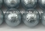 CSB2286 15.5 inches 16mm round wrinkled shell pearl beads wholesale