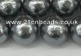 CSB2294 15.5 inches 12mm round wrinkled shell pearl beads wholesale