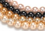 CSB31 16 inches 16mm round shell pearl beads Wholesale