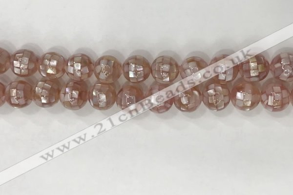 CSB4022 15.5 inches 12mm ball abalone shell beads wholesale