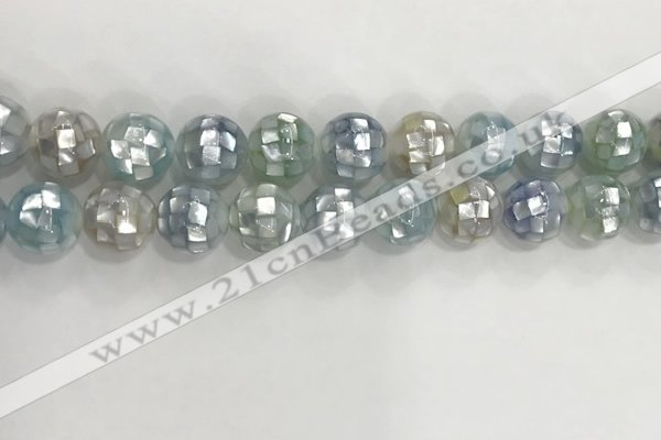 CSB4033 15.5 inches 14mm ball abalone shell beads wholesale