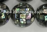CSB4061 15.5 inches 20mm ball abalone shell beads wholesale