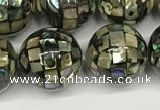 CSB4101 15.5 inches 12mm ball abalone shell beads wholesale