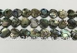 CSB4115 15.5 inches 16mm heart abalone shell beads wholesale
