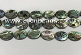 CSB4132 15.5 inches 18*25mm oval abalone shell beads wholesale