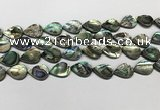 CSB4137 15.5 inches 12*16mm flat teardrop abalone shell beads