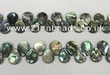 CSB4183 Top drilled 13*18mm flat teardrop balone shell beads