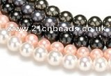 CSB43 16 inches 10mm round shell pearl beads Wholesale