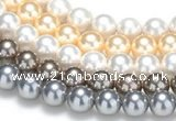 CSB47 16 inches 8mm round shell pearl beads Wholesale