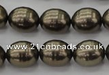 CSB585 15.5 inches 13*16mm whorl oval shell pearl beads
