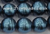 CSB648 15.5 inches 18mm whorl round shell pearl beads